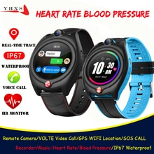 Smart 4G Video Call Watch Elderly Men Kid Student Heart Rate Blood Pressure Monitor GPS Trace Locate