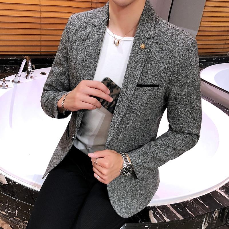 2021 брендовая одежда для мужчин; Высокое качество slim fit деловой костюм/мужской моды досуг костюм куртки/мужские высококачественные одежда ...