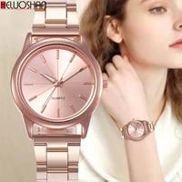 brand watches for women luxury bracelet stainless steel quartz wristwatch fashion ladies business cuff dress watch relogio reloj