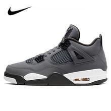 Nike Air Jordan 4 Gris Frais 2019 Basketball pour hommes Chaussures Original Haut Baskets Jordan Basket-Ball Chaussures Hommes Femmes Unisexe