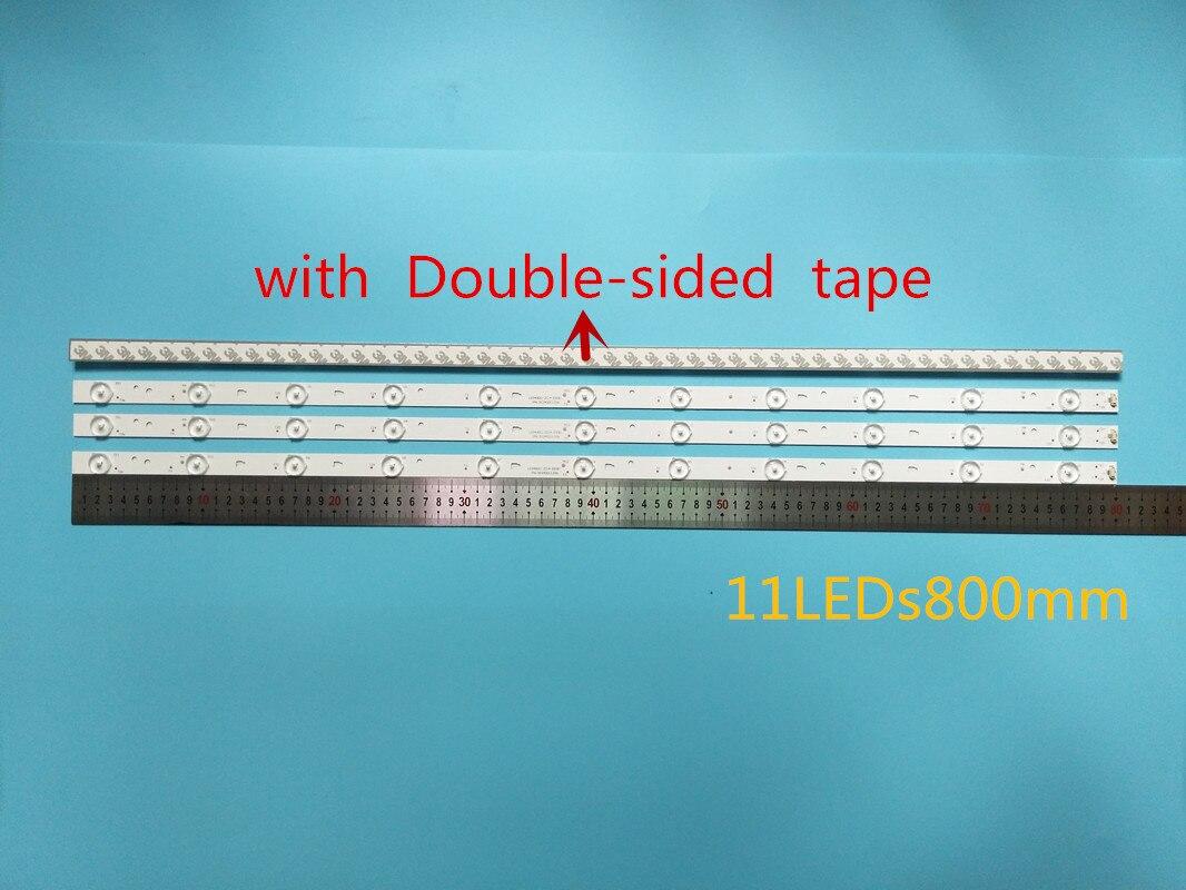 5 مجموعة = 20 قطعة أجزاء ل LE40F3000WX LK400D3HC34J الرجعية Led مصابيح JVC 11 LT-40E71 (أ) LED40D11-ZC14-03 (ب) LED40D11-ZC14-0