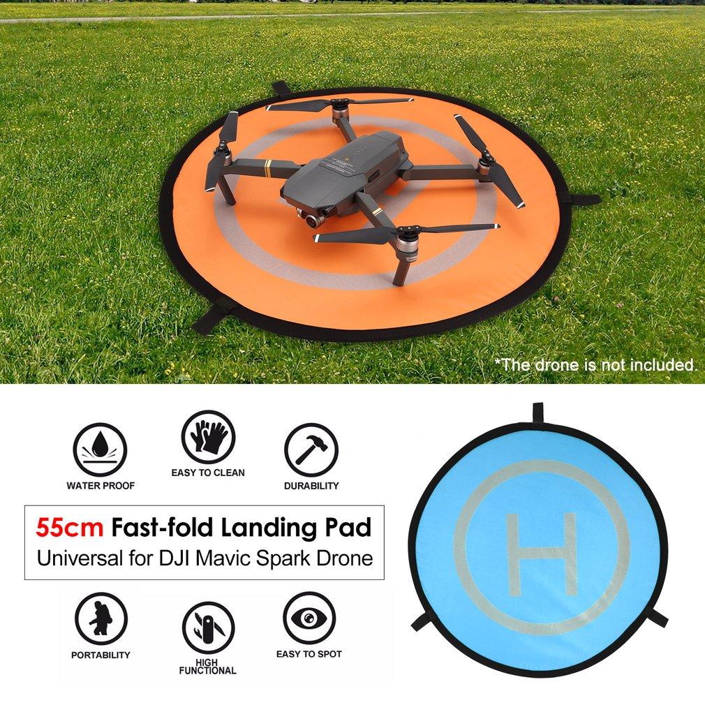 55cm Fast-fold Landing Pad Universal FPV Drone Parking Apron Foldable Pad For DJI Spark Pro FPV Racing Drone Accessories недорого