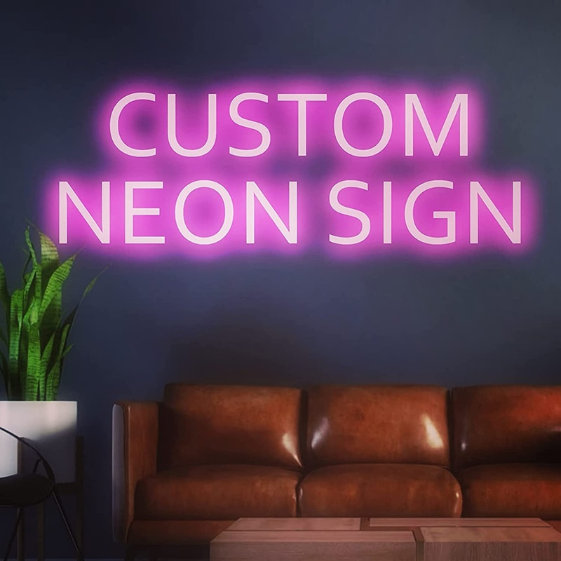 Custom Neon Sign Light Waterproof Flex Led Acrylic Wall Hanging Home Decor Neon Bar Lights Neon Custom Custom Neon Led Sign enlarge