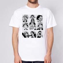 Lus Los une pièce T-shirt japonais Anime chemise hommes T-shirt Luffy t-shirts vêtements dessin animé imprimé T-shirt à manches courtes haut T-shirt