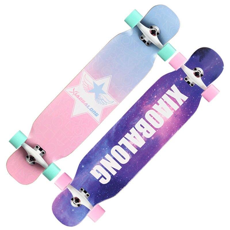 Street Beginner Skateboard Fashion Complete Longboard Skate Board Land Surfboard Trainner Gyroroue Fitness Equipment BI50SB