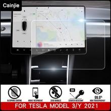 2021 New Tesla Car Screen Tempered glass Protector Film For Tesla Model 3 / Model Y Accessories Navi