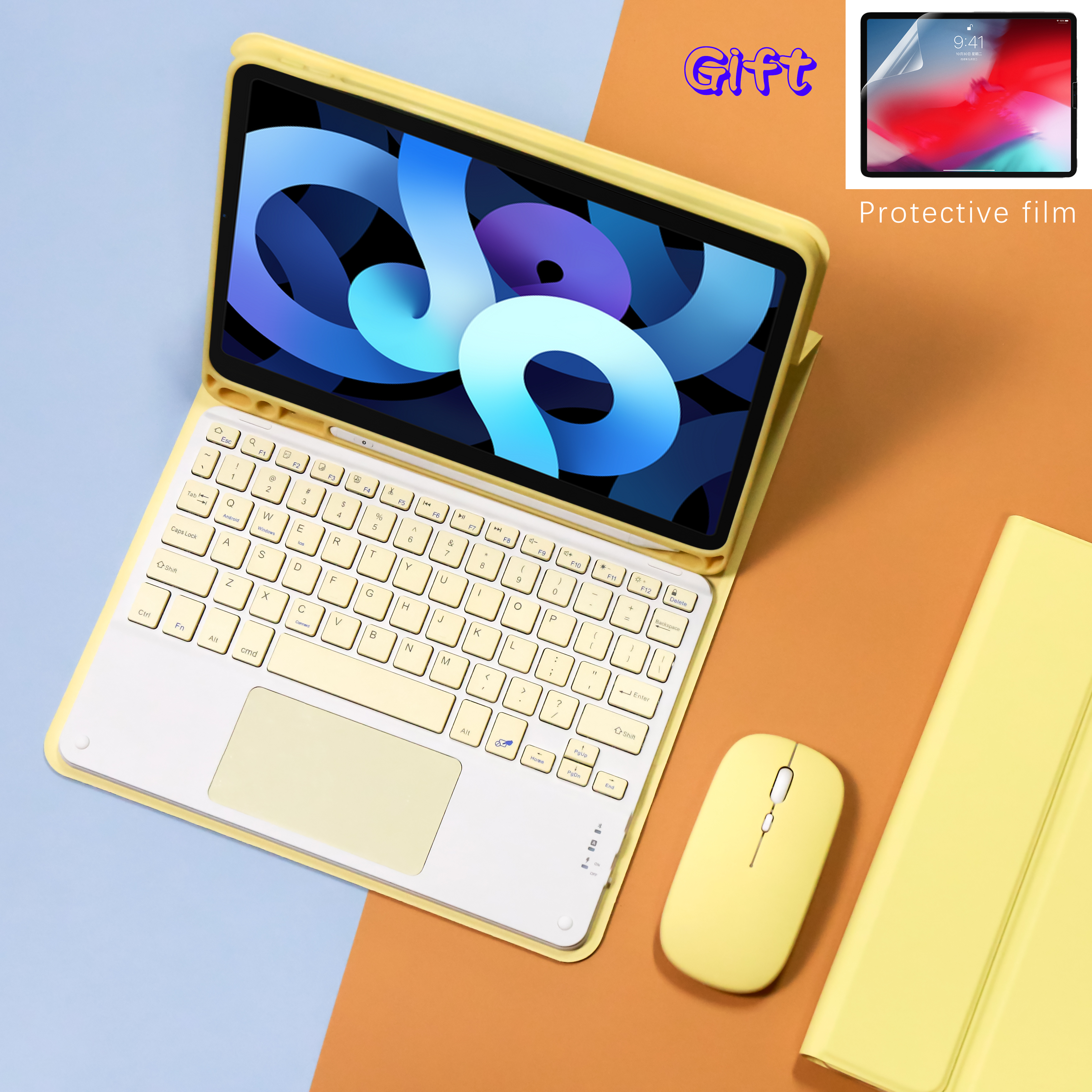 keyboard Wireless Mouse Magic For iPad Pro 11 Case 2021 2020 Air 4 10.2 7th 8th 5 6th Generation Air 3 Air 2 bluetooth keyboard