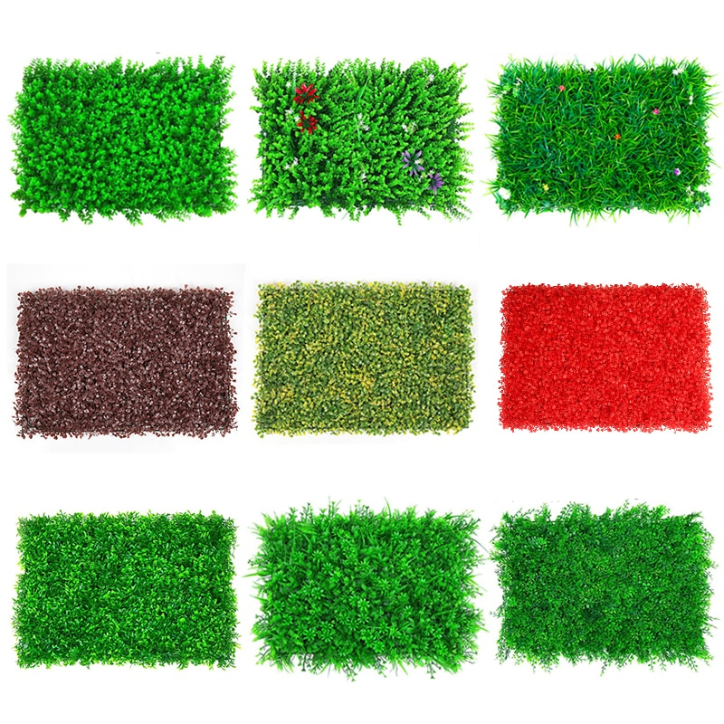 Panneau de gazon artificiel 40x60CM, fausse plante, enceinte de pelouse en plastique, décoration murale pour maison, jardin, extérieur, intérieur