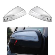 Левый и правый светодиодный зеркало заднего вида сигнала поворота светильник индикаторная лампа для Mercedes Benz C Class W204 мл W164 виано A2048200821 A2048200721