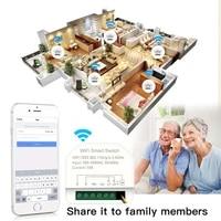 2 Gang Mini Wifi Smart Switch Timer Schakelt Smart Home Automation Compatibel Met Tuya Alexa Google Home Controller