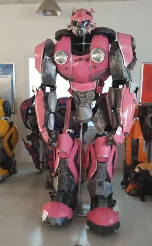 Mujer de vestir armadura Rosa disfraz de robot transformadores Cosplay vestir armadura Cosplay mujeres traje de robot
