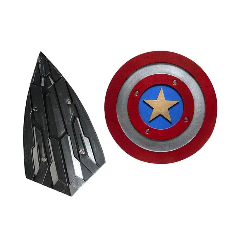 Juego de rol de Capitán América 1 1 PU escudo regalo Cosplay Halloween Prop 44 diámetro versión perfecta Steve Rogers