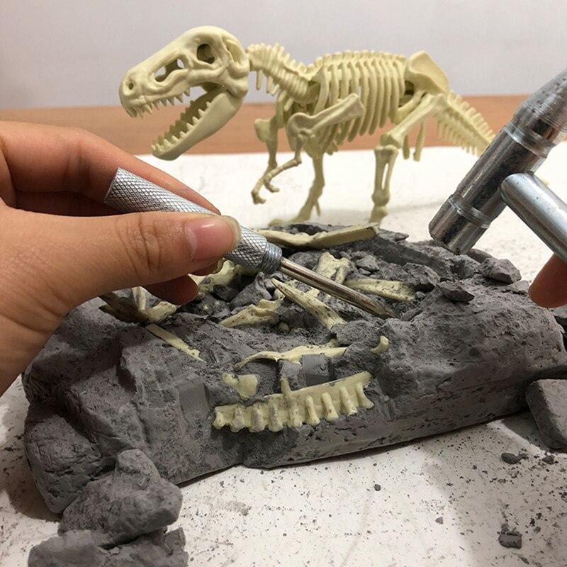 brinquedo de escavacao de dinossauro educacional simulacao arqueologica montagem