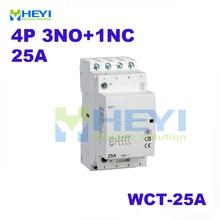 WCT-25A ac Modular Compact Contactor 4Pole 3NO+1NC 220VAC 50Hz din rail mini contactor