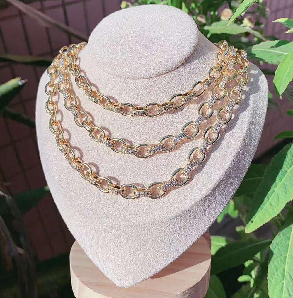 سلسلة زفاف من الزركونيا المكعبة ، مجوهرات عالية الجودة بطول 1 متر