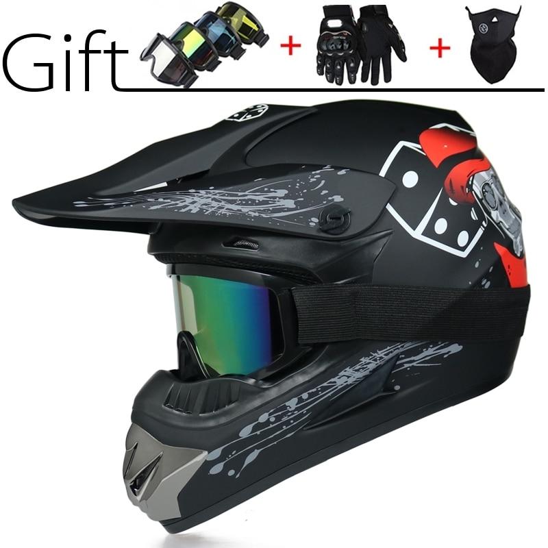Motorcycle Helmet Off-road Motorbike Full-face Casque Moto Cross Helmets Racing Motocross Helmet Capacetes DOT Approved