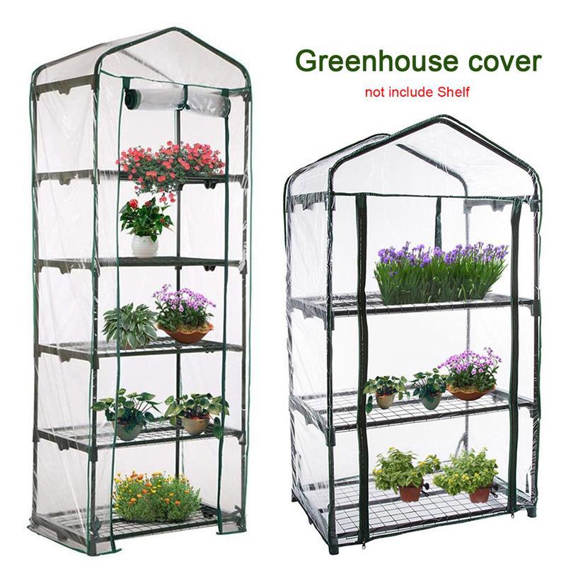 Folding Mini Greenhouse Outdoor Grow Tent Grow Bag Grow House PVC Cover Plastic Green House Windows Opening For Farm Garden