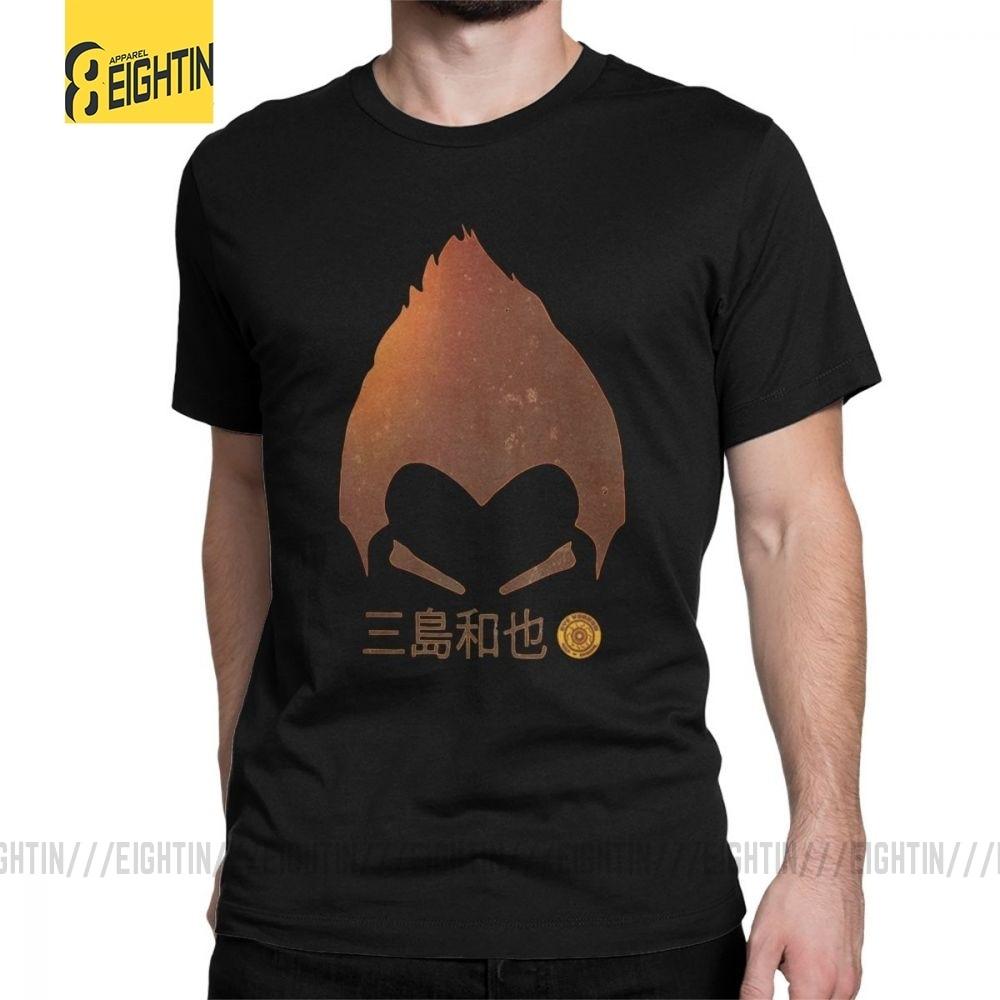 Mans T Shirt Tekken Kazuya Mishima T-Shirt Hip-hop Short Sleeves Tee Shirt Crewneck Tops Pure Cotton Normal T-Shirt