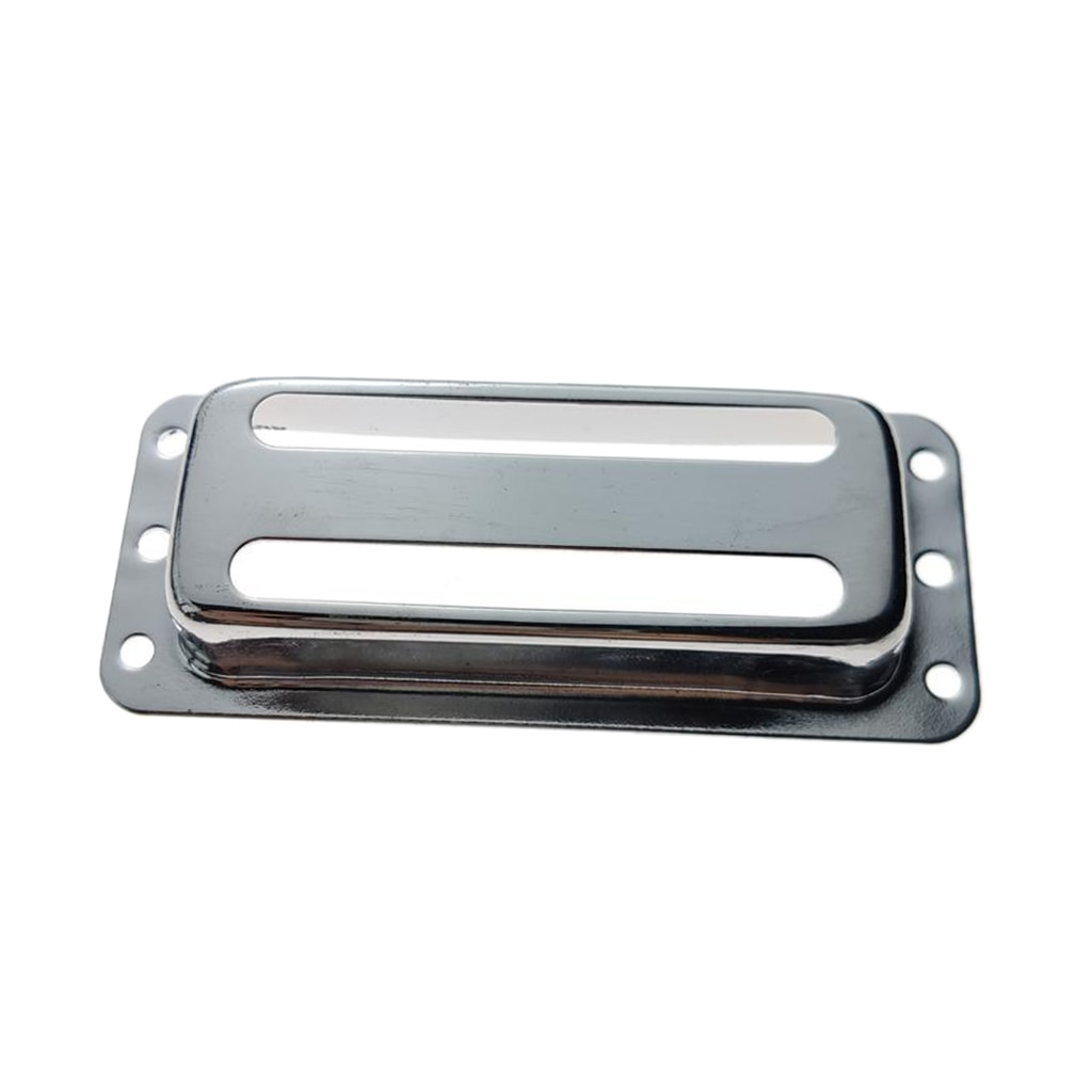 1x mini captador humbucker de latão capa de duas linhas para peças de guitarra lp durável