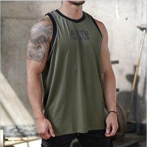 Mens 2020  Summer new  Fitness bodybuilding Tank Tops workout clothing cotton male sleeveless Sling shirt Vest undershirt