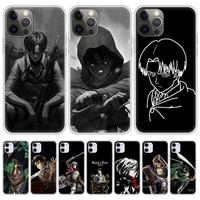 attack on titan levi ackerman phone case for iphone 11 pro shell for iphone 12 pro max 7 8 plus se 2020 x xr xs soft matte cover