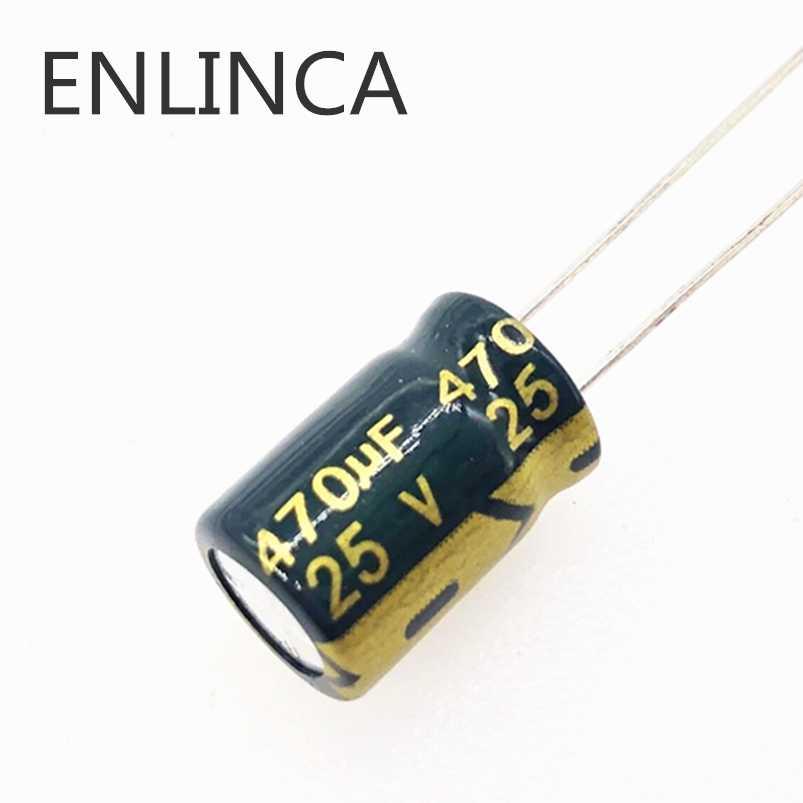 30 ピース ロット T10 25v 470uf 低 Esr インピーダンス高周波アルミ電解コンデンサのサイズ 8 12 470uf25v 20 Electrolytic Capacitors Aluminum Electrolytic Capacitorlow Esr Aliexpress