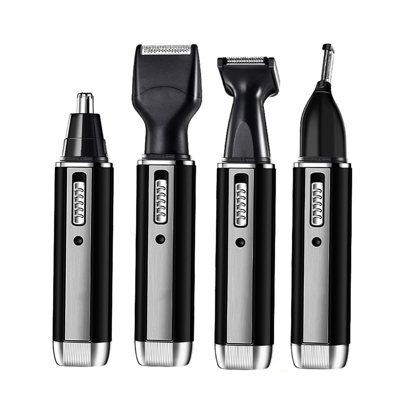 Rechargable 4 em 1 men nariz trimmer clipper micro cabelo barba pessoal toque trimmer barbeador grooming removedor lidar com navalha