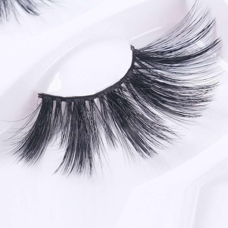 Накладные Ресницы , 25 Мм , 6D Mink Hair Strip Lashes False Eyelash Hand Made 1 Pair Crisscross Above 1.5cm Yeongji Van 1000