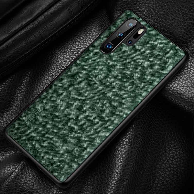 Funda de cuero genuino para Huawei P30 Pro funda duradera funda trasera Etui Coque para Huawei P30 P30Pro carcasa de protección