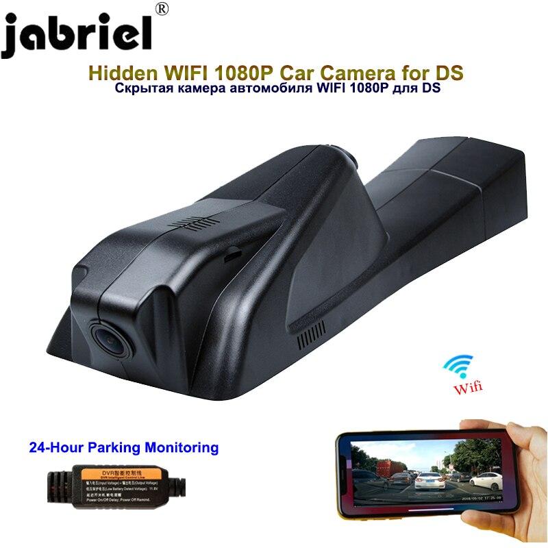Jabriel, cámara oculta de 1080P para coche, cámara de vídeo de 24 horas para salpicadero, wifi, cámara trasera dvr para coche, para Citroën DS5LS DS4S DS6 C4L C4 B7