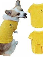 new autumn and winter pet cats and dogs warmth and thick lemon logo wearer pet clothing supplies yellow xs xxl code