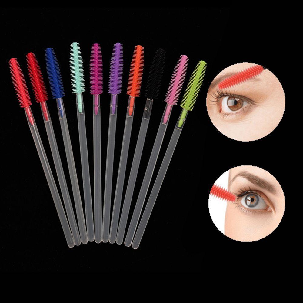 10pc extensão da pestana escova de sobrancelha descartável rímel varinha aplicador spoolers cílios olho escovas cosméticos conjunto de ferramentas de maquiagem