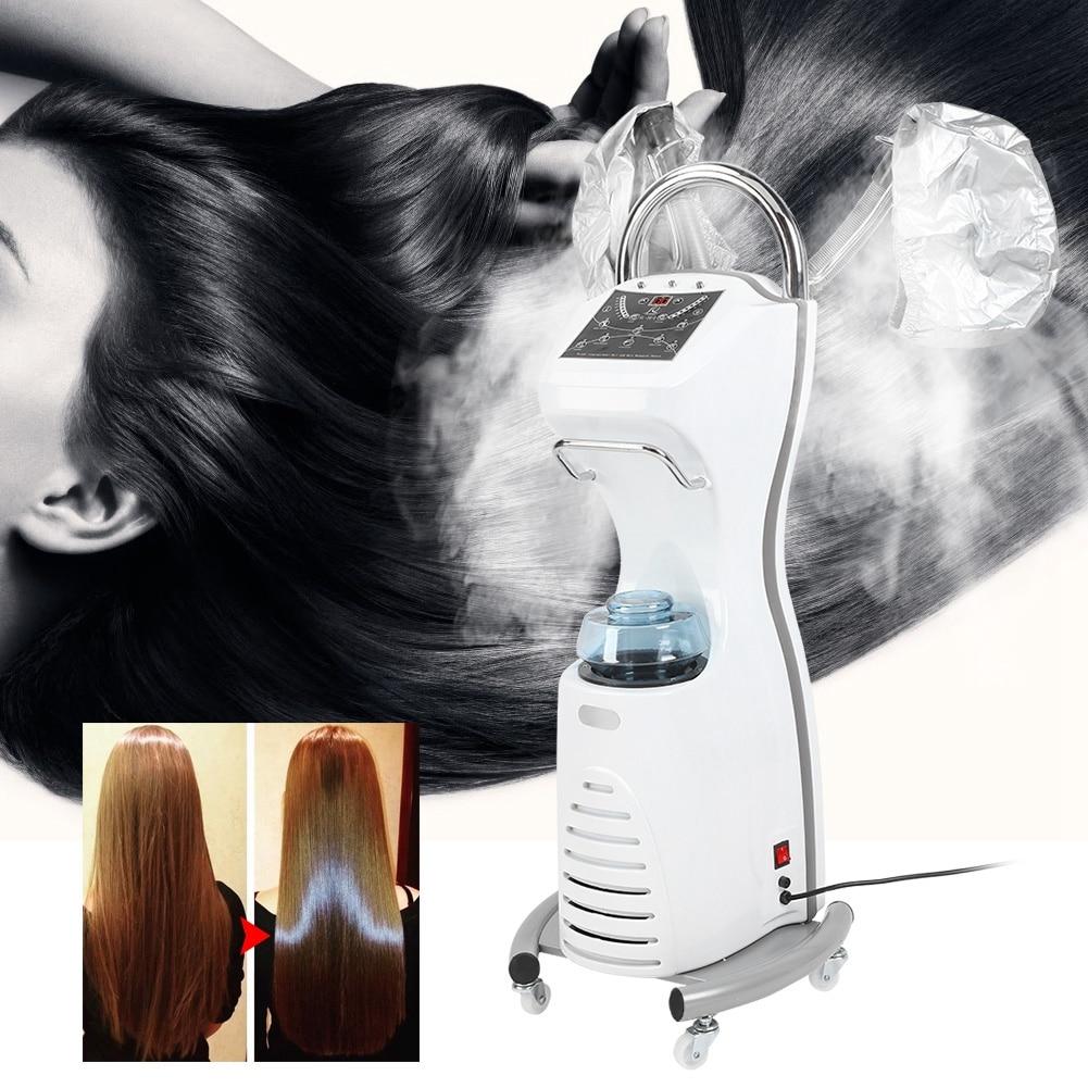 Floor Stand Salon Hair Steamer Hair Dyeing Perming Oil Treatment Hairdressing Machine