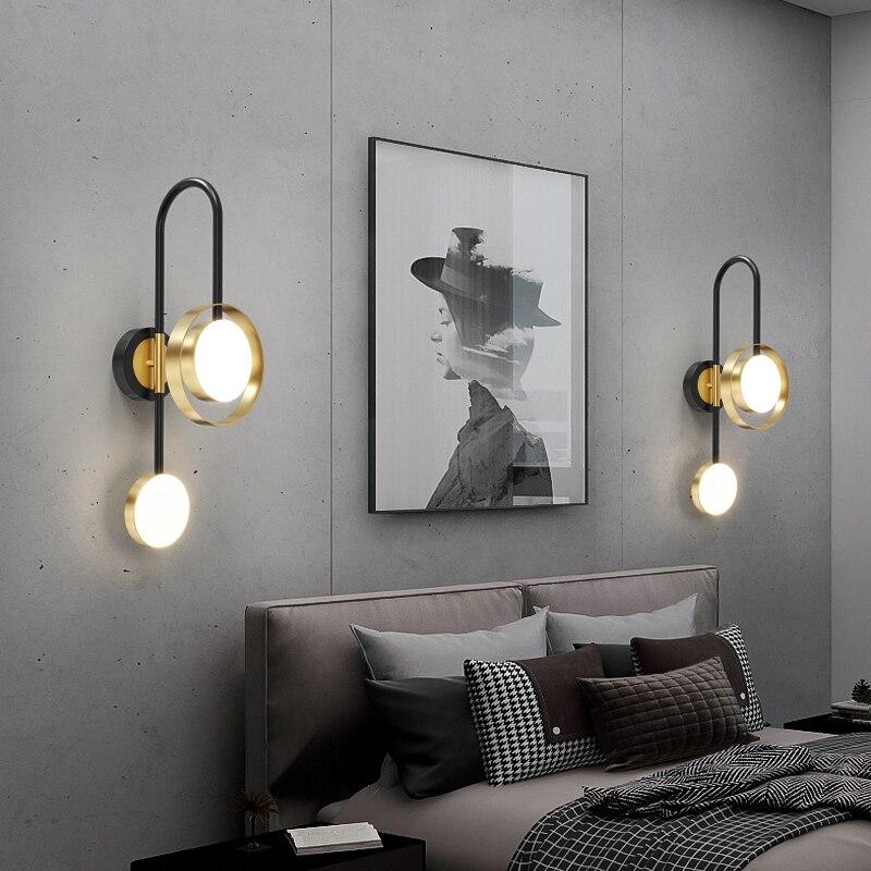 fss moderno ouro lampada de parede led quarto lampada de cabeceira sala estar tv
