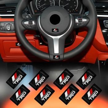10 шт декоративная наклейка с логотипом на автомобиль наклейки эмблема значок Стайлинг для Toyota ТРД RAV4 Avensis Yaris Левин Reiz корона Vios Sienna ТРД Наклейки на автомобиль      АлиЭкспресс