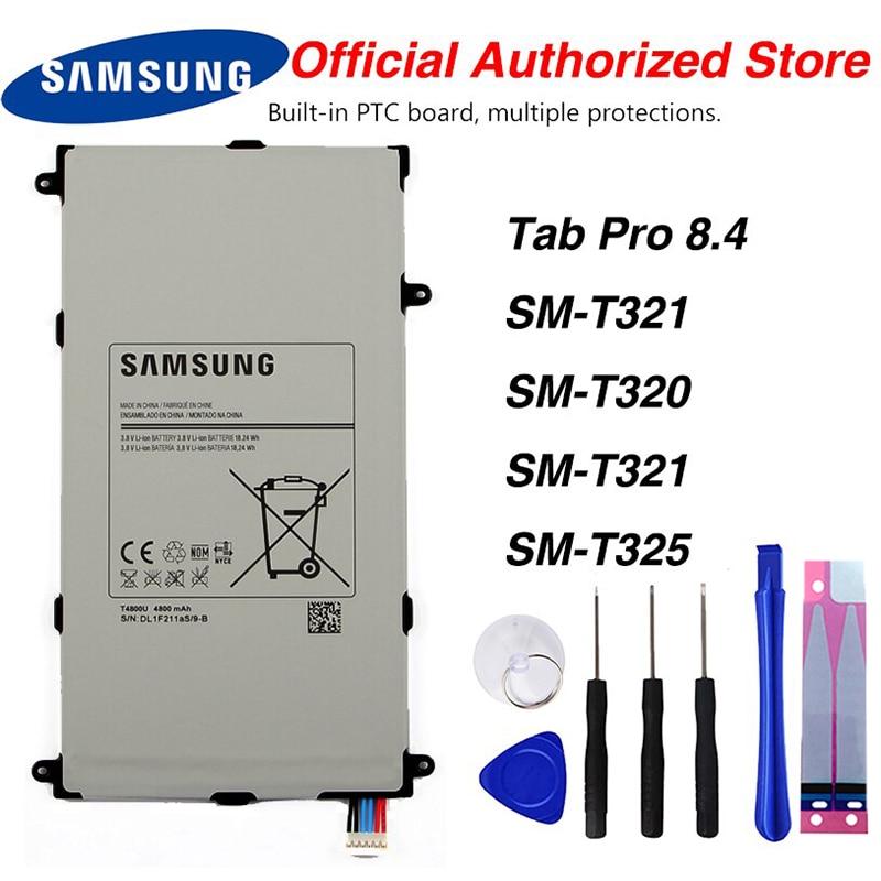 Original Samsung T4800E batería Tablet para Samsung Galaxy Tab Pro 8,4 En SM-T321 T320 T321 T325 4800mAh
