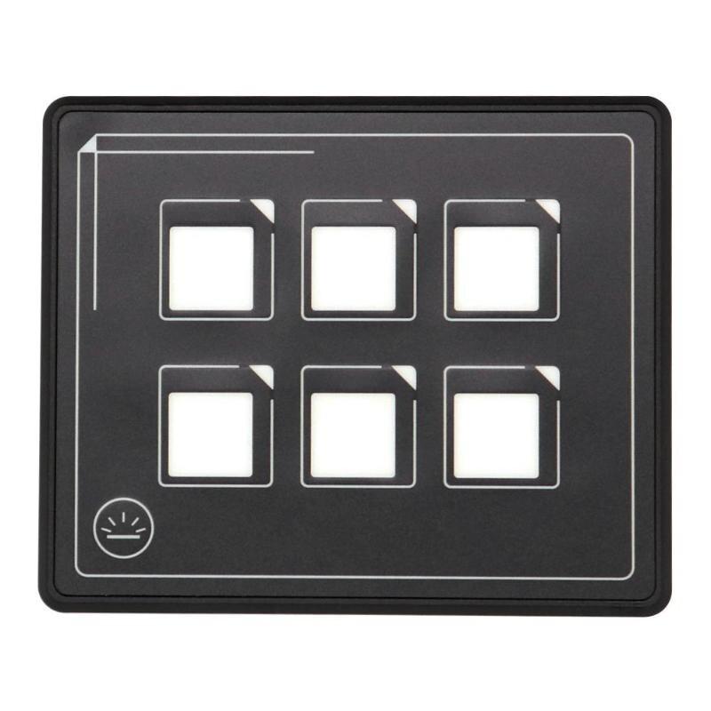 Gran oferta 12/24V 6 Gang Panel de interruptor de pantalla táctil golpe Color fácil instalación resistente al desgaste coche marino caja de Panel de Control táctil