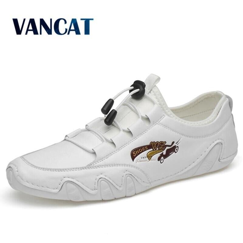 Zapatos de hombre de alta calidad, zapatos casuales de cuero genuino para hombre, mocasines de verano para hombre, zapatos planos suaves sin cordones para hombre, zapatos de conducción de cuero
