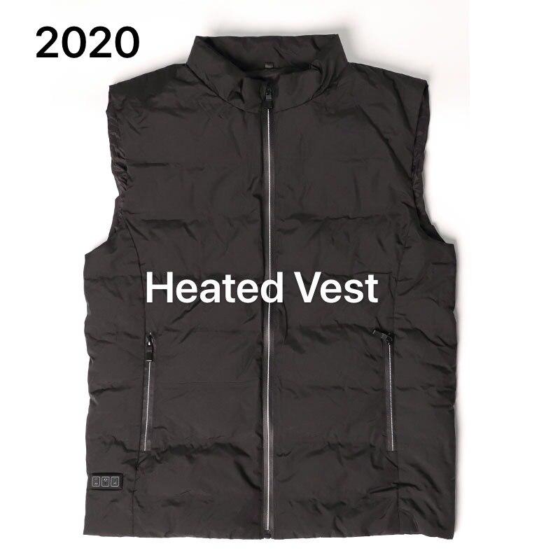 Chaqueta térmica lavable CoupleUsb con 8 almohadillas térmicas para hombres, chaleco de moda cálido para invierno, ropa ligera para senderismo