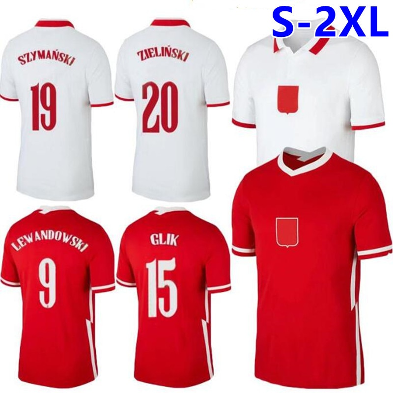 20 21 Poland Lewandowski football jersey National team football jersey home white away red Milik Piszzek Piatek Groski jersey fo