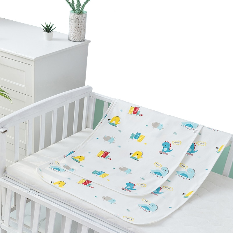 Happy Flute Washable Baby Diaper Changing Mat Soft Cotton Portable Changing Pad Waterproof Cover Mattress for Baby