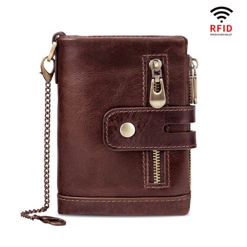 Betiteto RFID 100% Cartera de cuero genuino para hombre, monedero pequeño, Mini portatarjetas, cartera portatarjetas para hombre