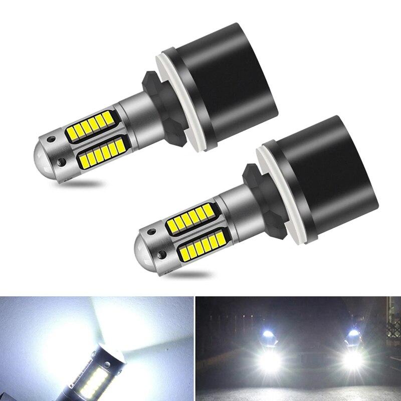 2x880 H27 H27W2 светодиодные лампы, супер яркие Автомобильные противотуманные фары, дневные ходовые огни, автомобильные мотоциклетные лампы, авто...