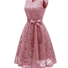 Womens Lace Fabric Vintage Bodycon Short Dress High Quality Sexy Evening  Short Sleeve Dresses Prom
