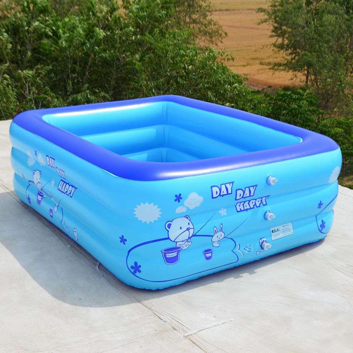 120 سنتيمتر 2/3 طبقات الأطفال حوض سباحة قابل للنفخ حوض الاستحمام طفل طفل المنزل في الهواء الطلق حمام سباحة كبير نفخ مربع حمام سباحة