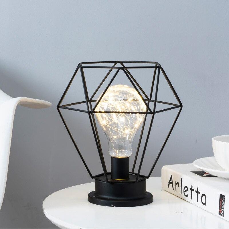 INS-Lámpara LED pequeña de estilo nórdico para Mesita de Noche, lámpara de...