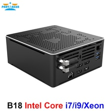 Partaker – Mini PC Gaming, Intel i9 10980HK 10880H, i7 10750H, 10e génération, 2 lan, windows 10, 2 x DDR4, 2 x NVME, 4K, DP, hdmi