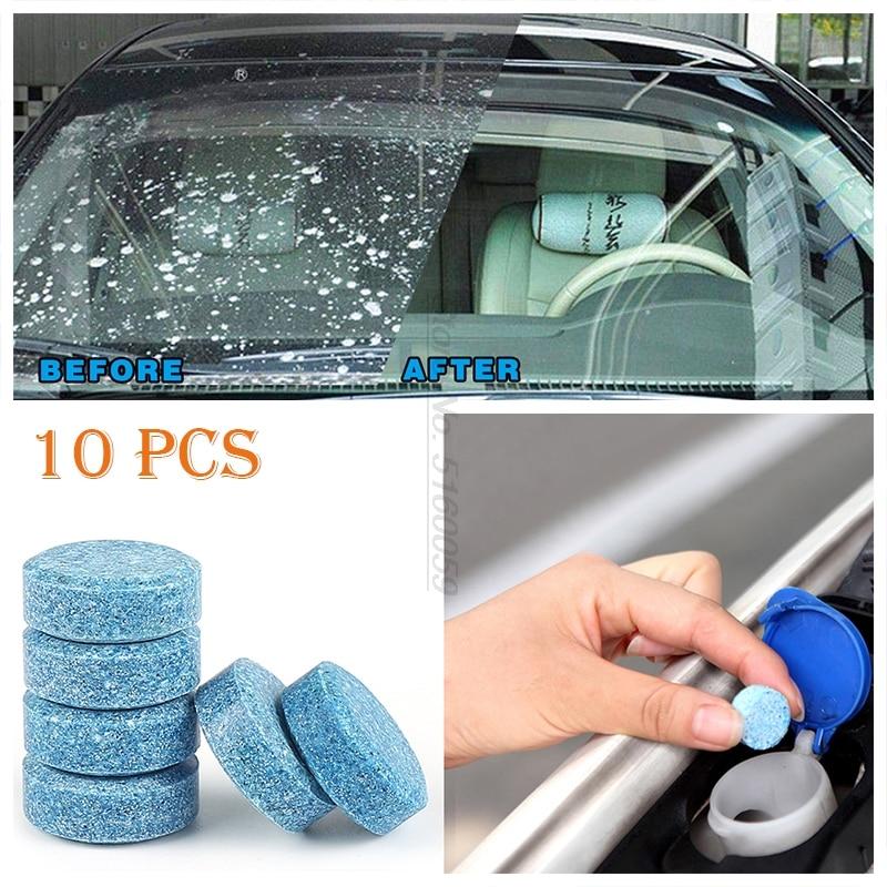 10 piezas 1 piezas = 4L accesorios de Coche limpiador de ventana de limpiaparabrisas sólido para Ventanas repelente de agua limpia
