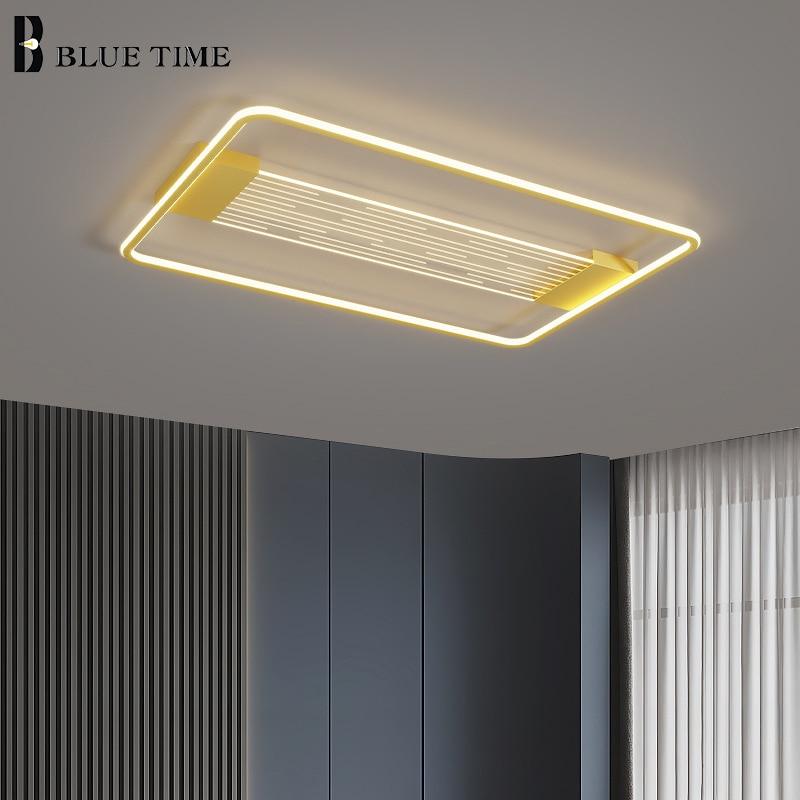 مصباح سقف عصري مربع ومستطيل مصباح سقف LED كبير 110 فولت 220 فولت لغرفة المعيشة غرفة نوم غرفة الطعام Led بريق 110 فولت 220 فولت