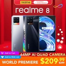 realme 8 6GB RAM 128GB ROM Global Version 30W Charge Helio G95 6.4